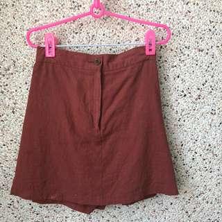 咖橘色褲裙