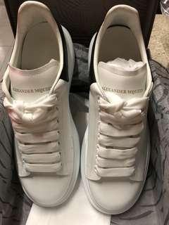 Alexander McQueen sneaker 男裝 黑皮尾 MCQ黑皮 黑皮金字尾 shoes