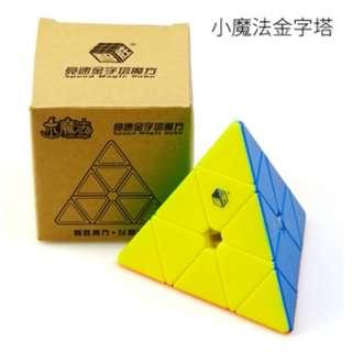 New 小魔法 三角金字搭扭計骰 魔方 Rubik's Speed Magic Cube
