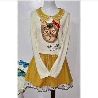 Cat Patterned Dress