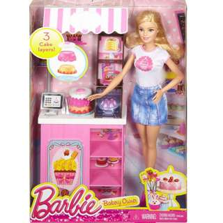 Brand New Barbie Careers Bakery Shop Playset with Blonde Doll BNIB