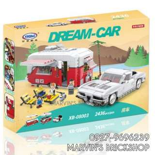 For Sale Camper + Corvette Car Building Blocks Toy