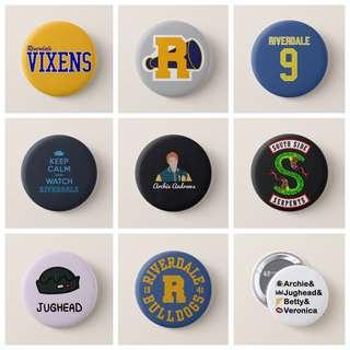 Riverdale Netflix Pinback Badges