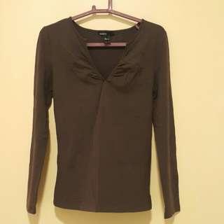 Long sleeve top - brown