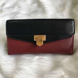 Charles & Keith Red & Black Wallet