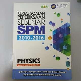 Kertas peperikasaan sebenar SPM 2010-2016 Physics