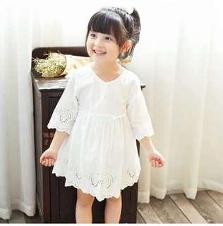 P/O toddler girl crochet dress
