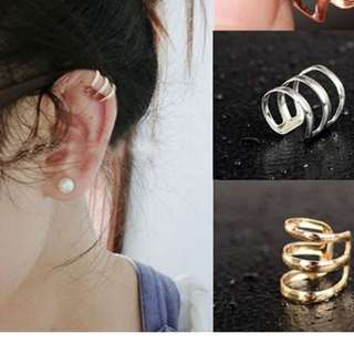 Non Pierce Clip On Wrap Ear Earing Cuff Punk