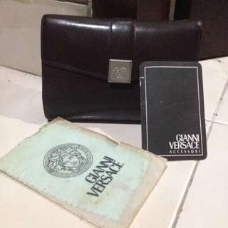 REPRICE! Gianni Versace medusa brown wallet vintage