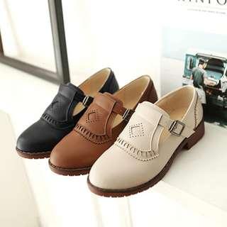 CATS_ 日系 古著英倫風學生粗跟鞋 34 - 43碼 / 3色