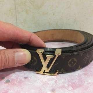 LV Louis Vuitton Monogram 路易威登 皮帶 belt