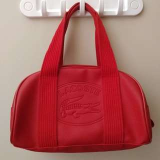 Pre-loved Red Lacoste Handbag
