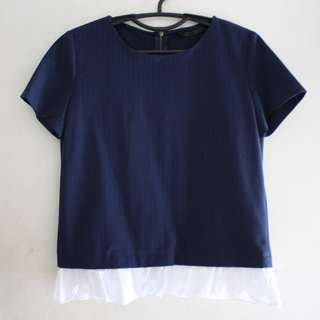 Zara Dark Blue Blouse