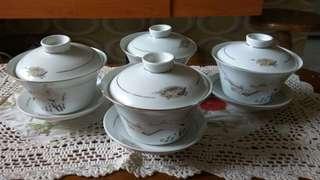 Set mangkuk soup/ minum arak antik
