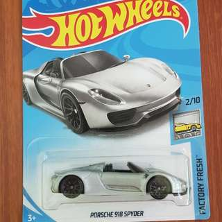 Porsche 918 Spyder Hotwheels *NEW MODEL*