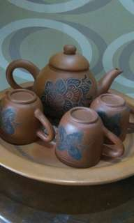 1 set teko & cangkir / untuk teh