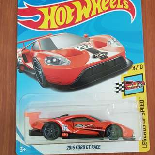 2016 Ford GT Race Hotwheels *Variant Color*