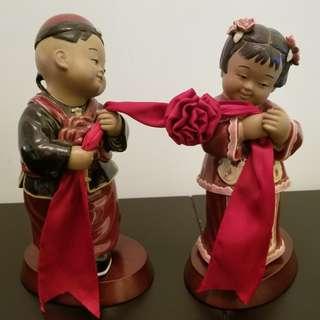 結婚陶瓷公仔(連底坐)擺設