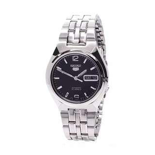 Preorder Seiko Watch 5 Automatic Silver Stainless-Steel Case Stainless-Steel Bracelet Mens SNKL61K1