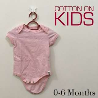 Cotton On Baby Pink Romper