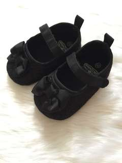 Black pre walker shoes