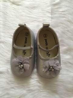 Silver pre walker shoes