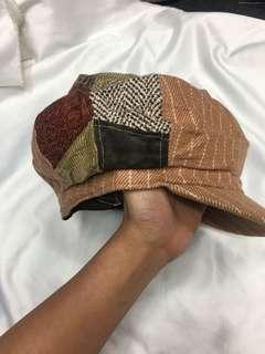 男女適合 復古拼接設計 貝雷帽☘️綠67