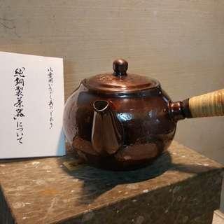 寶月堂 純銅製茶壺 (八成新……無使用過痕跡!)