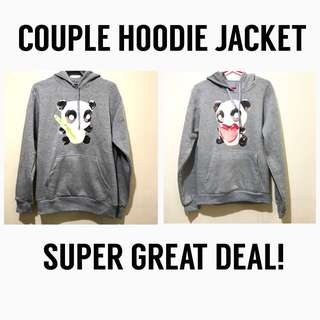 NEVER USED: COUPLE HOODIE JACKET