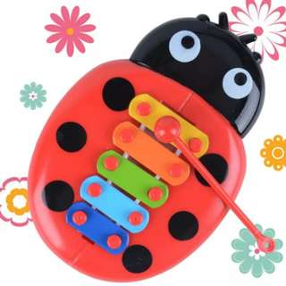 Musical Toy Percussion Kid Music Instrument Cute Cartoon Inset Beetle kid Early Learning Educational Fun Toy Random Color