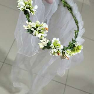Wedding Flower headband, Little Flower Girl