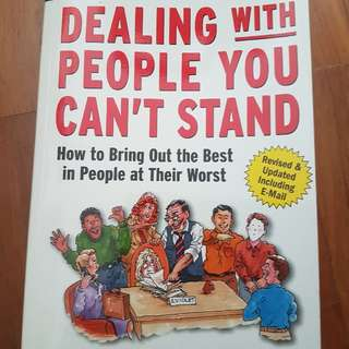 Brand New book on Dealing With People You Can't Stand By DR. Brinkman & DR Kirschner