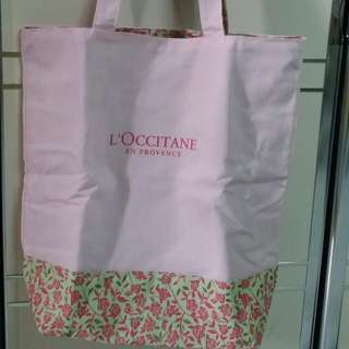 L'occitane Shpopping Bag Two sided bag/雙面袋