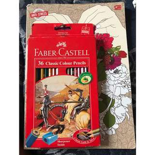 Coloring book & Faber Castell