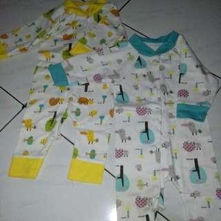 Baju bayi umur NB -4 bln