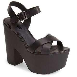 $120 Topshop platform sandal heel