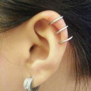 Ear cuffs (3 rings)