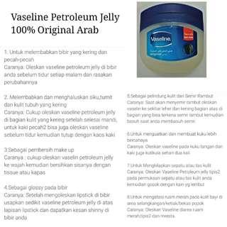 Vaseline Petroleum Jelly 100% Original Arab