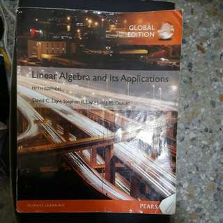 Linear Algebra and its Applications fifth edition
