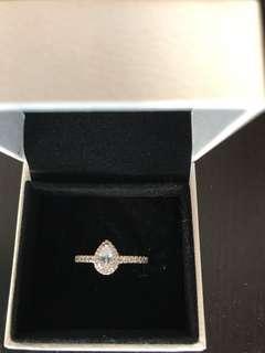 New genuine pandora teardrop ring size 52