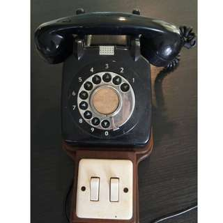 Dial telephone with intercom wiring. 9/10 condition