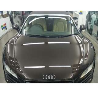 CAR GLASS COATING @ AUDI CAR
