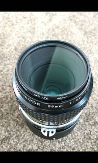 Nikon Nikkor 55mm F3.5 Micro AIS Manual Mint Collectible Rare
