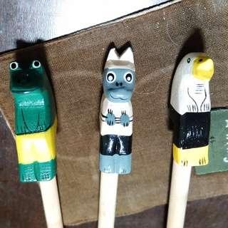 四支鉛筆 木雕/經典電影