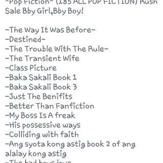 Pop Fiction Pre-order