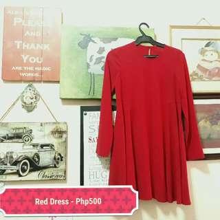Classy Red Dress (S-M)