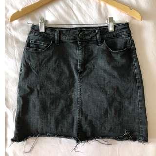 Bardot Black Denim Skirt - Size 10