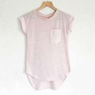 Pink Mesh Short Sleeve Shirt