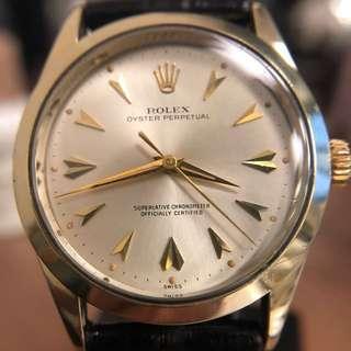 ♛ vintage 1960's Rolex 14k Gold capped ref.1025 Automatic Movement 1560