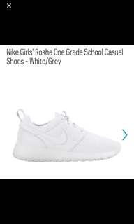 5Y All-White Nike Roshes